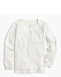 Camiseta de manga larga blanca de J.Crew