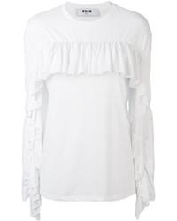 Camiseta de Manga Larga Blanca de MSGM