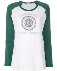 Camiseta de manga larga blanca de Saint Laurent
