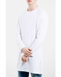 Camiseta de manga larga blanca de Topman