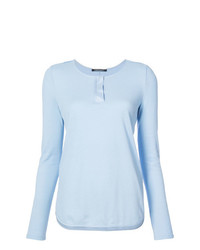 Camiseta de manga larga celeste de Luisa Cerano