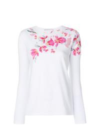 Camiseta de manga larga con adornos blanca de Ermanno Scervino