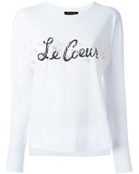 Camiseta de manga larga con adornos blanca de Twin-Set