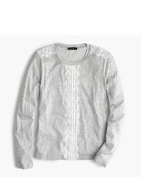 Camiseta de manga larga de encaje gris de J.Crew