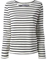 Camiseta de manga larga de rayas horizontales en blanco y negro de Petit Bateau