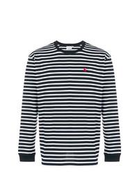 Camiseta de manga larga de rayas horizontales en negro y blanco de Carhartt Heritage