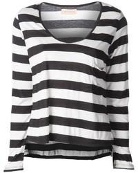 Camiseta de manga larga de rayas horizontales en negro y blanco de Otis
