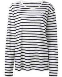 Camiseta de manga larga de rayas horizontales original 1287971
