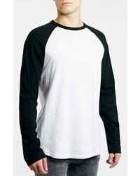 Camiseta de manga larga en blanco y negro de Topman