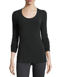 Camiseta de manga larga en gris oscuro de Eileen Fisher