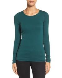 Camiseta de manga larga en verde azulado de Caslon