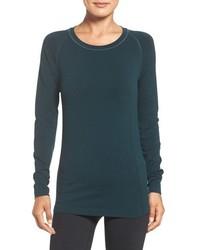 Camiseta de manga larga en verde azulado de Zella