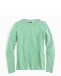 Camiseta de manga larga en verde menta de J.Crew