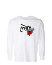 Camiseta de manga larga estampada blanca de Facetasm