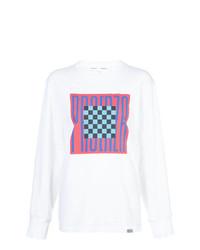 Camiseta de Manga Larga Estampada Blanca de Proenza Schouler