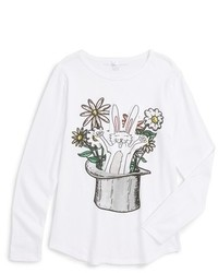 Camiseta de manga larga estampada blanca de Stella McCartney