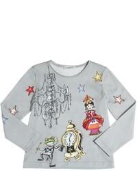Camiseta de manga larga estampada gris de Dolce & Gabbana