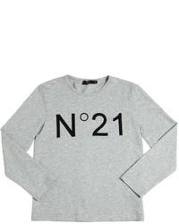 Camiseta de manga larga estampada gris de N°21