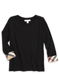 Camiseta de manga larga estampada negra de Burberry