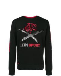 Camiseta de manga larga estampada negra de Plein Sport