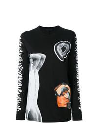 Camiseta de Manga Larga Estampada Negra de Proenza Schouler