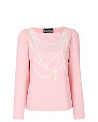 Camiseta de manga larga estampada rosada de Boutique Moschino