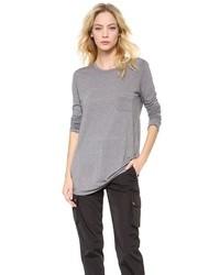Camiseta de manga larga gris de Alexander Wang