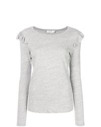 Camiseta de manga larga gris de Frame Denim