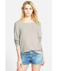 Camiseta de manga larga gris de Wildfox Couture