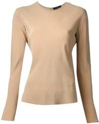 Camiseta de manga larga marrón claro de The Row