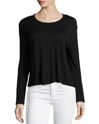 Camiseta de manga larga negra de Alexander Wang