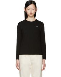 Camiseta de Manga Larga Negra de Comme des Garcons