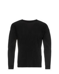Camiseta de manga larga negra de Homme Plissé Issey Miyake
