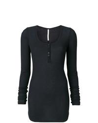 Camiseta de manga larga negra de Isabel Benenato