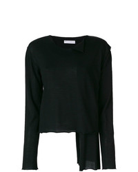 Camiseta de manga larga negra de JW Anderson