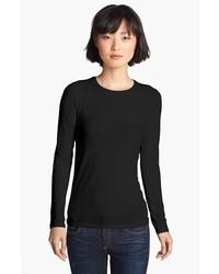 Camiseta de manga larga negra de Majestic