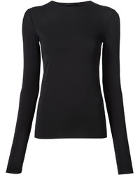 Camiseta de manga larga negra de The Row