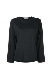 Camiseta de manga larga negra de Vince