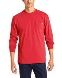 Camiseta de manga larga roja