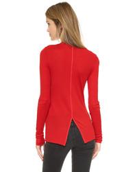 Camiseta de manga larga roja de Rag & Bone