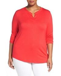 Camiseta de manga larga roja de Sejour