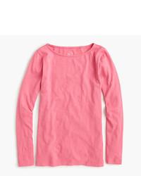 Camiseta de manga larga rosa