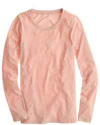 Camiseta de manga larga rosada de J.Crew