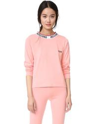 Camiseta de manga larga rosada de Moschino