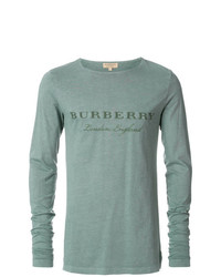 Camiseta de Manga Larga Verde Menta de Burberry