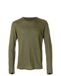 Camiseta de manga larga verde oliva