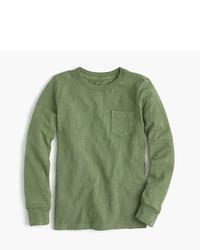 Camiseta de manga larga verde oliva de J.Crew
