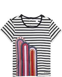 Camiseta de rayas horizontales en azul marino y blanco