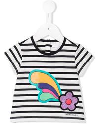 Camiseta de rayas horizontales en blanco y negro de Burberry