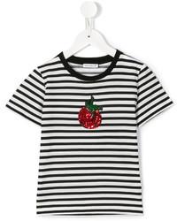 Camiseta de rayas horizontales en blanco y negro de Dolce & Gabbana